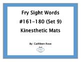 Fry Sight Words #161-180 Kinesthetic Mats (Set 9)