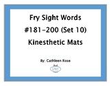 Fry Sight Words #181-200 Kinesthetic Mats (Set 10)