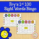Fry Sight Words 1st 100 List Bingo Spring Flowers