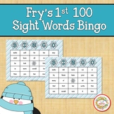 Fry Sight Words 1st 100 List Bingo Winter