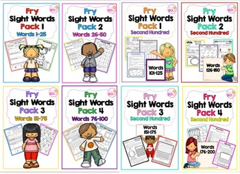 Fry Sight Words 1st and 2nd Hundred Bundle