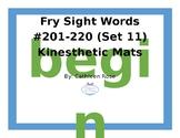 Fry Sight Words #201-220 Kinesthetic Mats (Set 11)