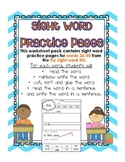 Fry Sight Words 26-50 Read, Write, and Sort Practice Pages