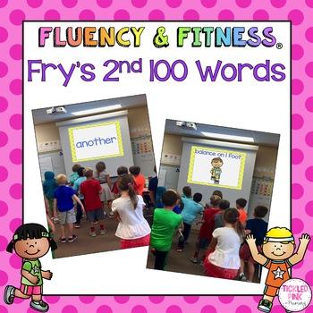 Fry's 2nd 100 Sight Words Fluency & Fitness Brain Breaks Bundle