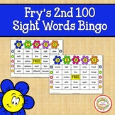 Fry Sight Words 2nd 100 List Bingo Spring Flowers