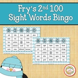 Fry Sight Words 2nd 100 List Bingo Winter