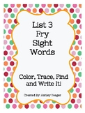 Fry's List 3 Sight Words