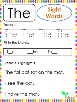 Fry Sight Words