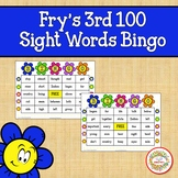 Fry Sight Words 3rd 100 List Bingo Spring Flowers