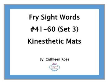 Fry Sight Words #41-60 Kinesthetic Mats (Set 3)