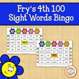 Fry Sight Words 4th 100 List Bingo Spring Flowers