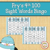 Fry Sight Words 4th 100 List Bingo Winter