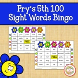 Fry Sight Words 5th 100 List Bingo Spring Flowers
