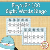 Fry Sight Words 5th 100 List Bingo Winter