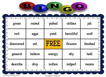 Fry Sight Words 6th 100 List Bingo