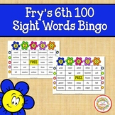 Fry Sight Words 6th 100 List Bingo Spring Flowers