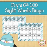 Fry Sight Words 6th 100 List Bingo Winter
