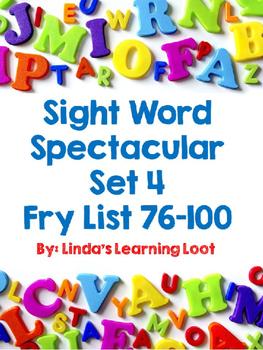 Fry Sight Words 76-100: Sight Word Spectacular Set 4