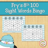 Fry Sight Words 8th 100 List Bingo Winter