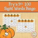 Fry Sight Words 9th 100 List Bingo Autumn