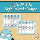 Fry Sight Words 9th 100 List Bingo Winter