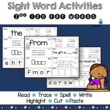 Fry Sight Words Activities - 2nd 100 Words