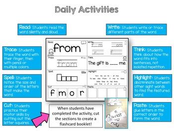 Fry Sight Words Activities