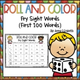 Fry Sight Words Activities {Roll and Color}