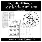 Fry Sight Word Assessment & Tracking (1st & 2nd Hundred Lists)