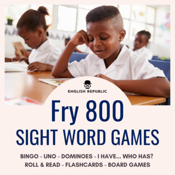 Fry Sight Words Bingo - Eighth Hundred in Color or B&W
