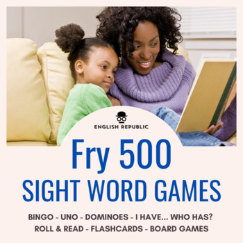 Fry Sight Words Bingo - Fifth Hundred in Color or B&W