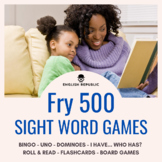 Fry Sight Words Game Pack (Fifth Hundred) - Bingo, Dominoe