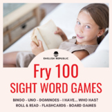 Fry Sight Word Games (First Hundred) - Bingo, Dominoes, an