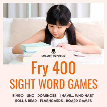 Fry Sight Word Game Pack (Fourth Hundred) - Bingo, Dominoes, and Board Games