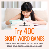 Fry Sight Word Game Pack 400 (Fourth Hundred) - Bingo, Dominoes, and Board Games