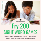 Fry Sight Word Games (Second Hundred) - Bingo, Dominoes, a