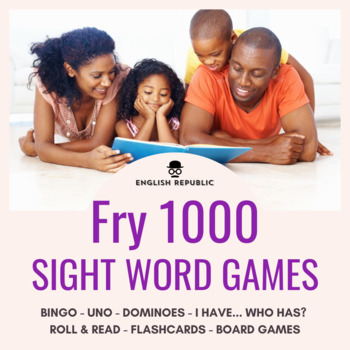Fry Sight Words Bingo - Tenth Hundred in Color or B&W