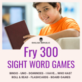 Fry Sight Word Games (Third Hundred) - Bingo, Dominoes, an