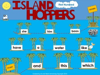 Fry Sight Words Board Game - Island Hoppers