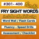 Fry Sight Words – FOURTH 100 – Numbered 301-400   * BUNDLE * NO PREP