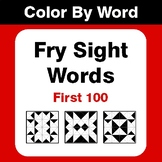 Fry Sight Words (First 100) - Color By Sight Word & Color