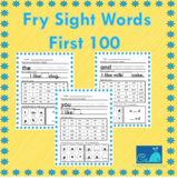 Fry Sight Words Worksheets First 100 Print and Go!