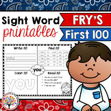 *Fry Sight Words : First 100 Printables