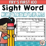 Fry Sight Words : First 100 Printables