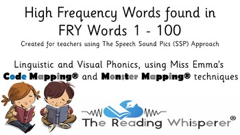 Fry (Sight Words) - First 100 Words - Code Mapped® and Monster Mapped®