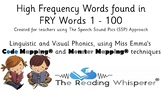 Fry (Sight Words) - First 100 Words - Code Mapped® and Mon