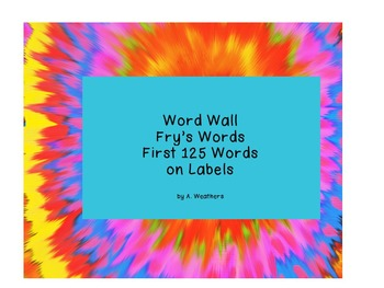 Fry Sight Words--First 125