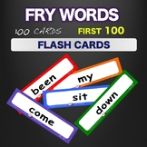 Fry Sight Words - Flash Cards - Words 1-100