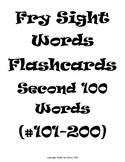 Fry's Sight Words Flash Cards #101-200