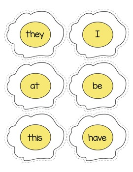 Fry Sight Words Flipping Eggs